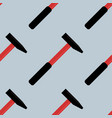 hammer seamless pattern vector image vector image