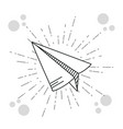 hand drawer paper plane vector image