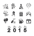 happy new year icon vector image vector image