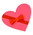 heart gift box icon flat style vector image vector image