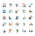 human resources and management icons 7 vector image vector image