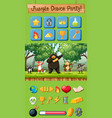 jungle dance party game pack vector image vector image