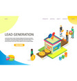 lead generation landing page website vector image