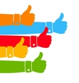 Like and Thumbs Up vector image
