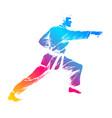 martial artist vector image vector image
