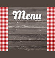 menu wooden background with the vector image