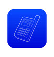 mobile phone icon blue vector image vector image