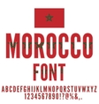 Morocco Flag Font vector image vector image