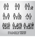 Multigenerational family freehand icons set with vector image vector image