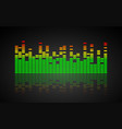 music equalizer dynamic volume vector image