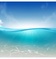 ocean tropical sea water column realistic vector image