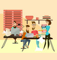 office workers concept vector image