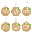 organic cardboard labels and tags vector image