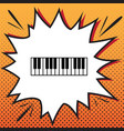 piano keyboard sign comics style icon on vector image vector image