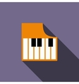 Piano keys icon flat style vector image vector image