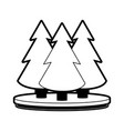 pine tree forest icon image vector image vector image
