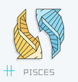 pisces sign vector image vector image