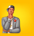 pop art rap hip-hop male character vector image