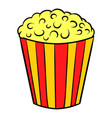 popcorn icon cartoon vector image vector image