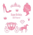 Princess Cinderella set collections vector image vector image