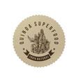 quinoa superfood eco label vector image vector image