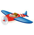 red airplane with blue wings vector image