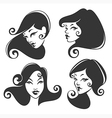 retro faces vector image