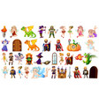 set medieval character vector image vector image
