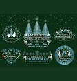 set of christmas emblems vector image