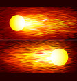 set of two fireballs vector image vector image