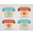 set retro banners labels vector image vector image
