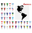 south and north america flags vector image