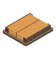 square car air filter icon isometric style