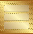 three golden banners vector image