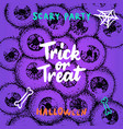 trick or treat greeting card vector image vector image