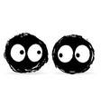 two ink blot monsters vector image vector image