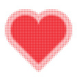 Valentine Heart Halftone for your design vector image vector image