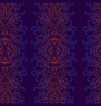 vintage psychedelic vertical decorative ornament vector image vector image