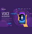 voice biometrics technology for personal identity vector image vector image