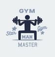 weightlifter man icon persone sign logo vector image