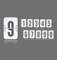 white flip mechanical score board number with vector image vector image