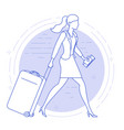 woman in airport vector image vector image