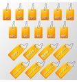 orange labels with offers vector image