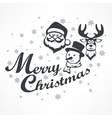 Mary Christmas poster on white vector image