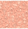 Pattern with mushrooms vector image