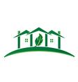 Green House ecology concept logo vector image