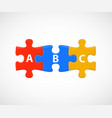 abc puzzle pieces business or education steps vector image