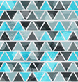 abstract blue triangle seamless vector image vector image