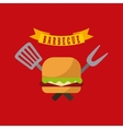 barbecue grill design vector image vector image