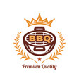 barbeque logo vector image vector image